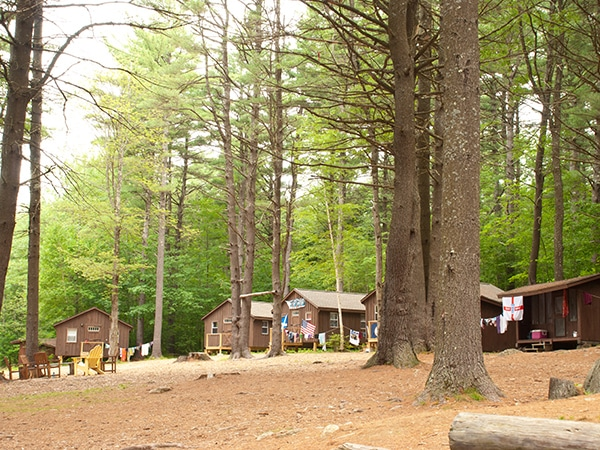Cabins and Bungalows in the woods of New England