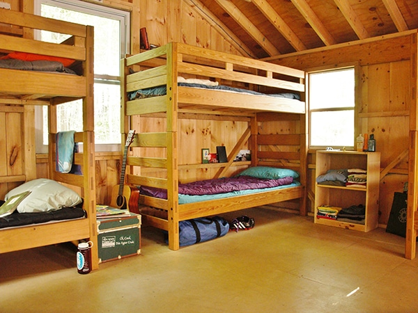 Summer Camp Housing In Cabins For Boys And Girls