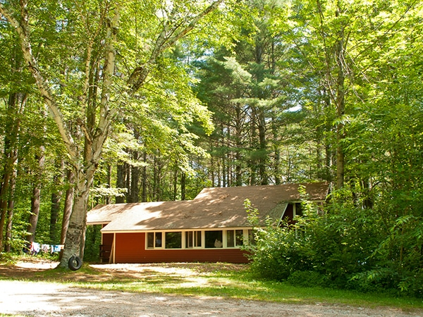 Summer camp cabin accommodations in New England