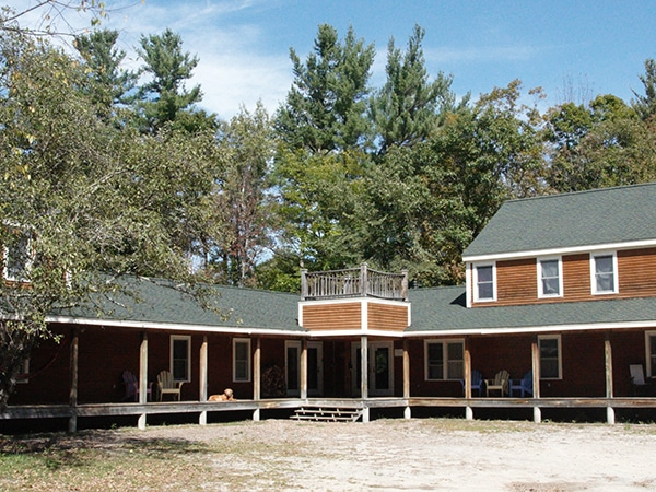 Community building with health and medical offices at camp in New Hampshire