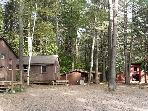 Cabins and bungalows for camping at camp in New Hampshire