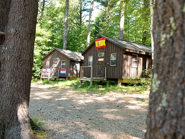 Camp bungalows and facilities rental at camp in New England