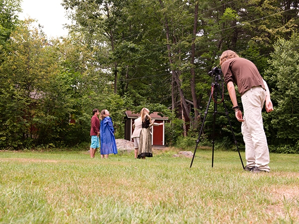 Learning photography and videography techniques at summer camp