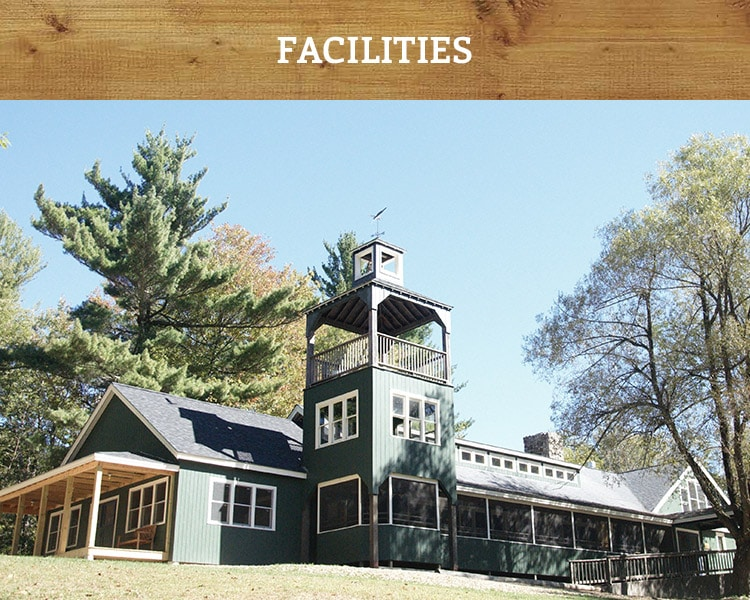 New Hampshire summer camp dining hall and facilities
