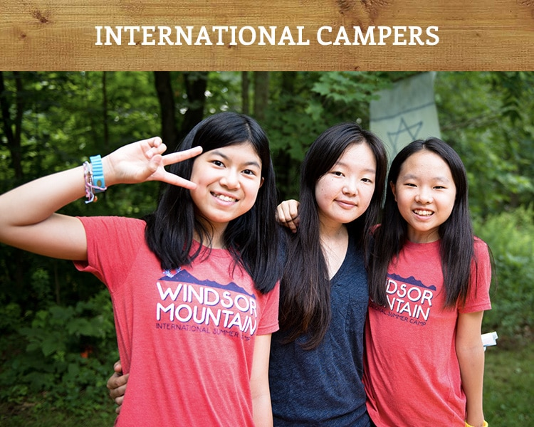 International campers come from China to spend a summer at Windsor Mountain in New Hampshire